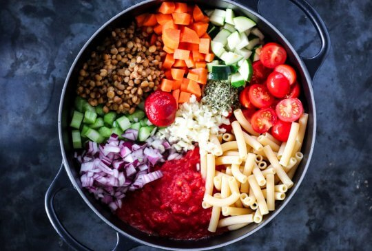 Image: VEGETARISK ONE POT-PASTA