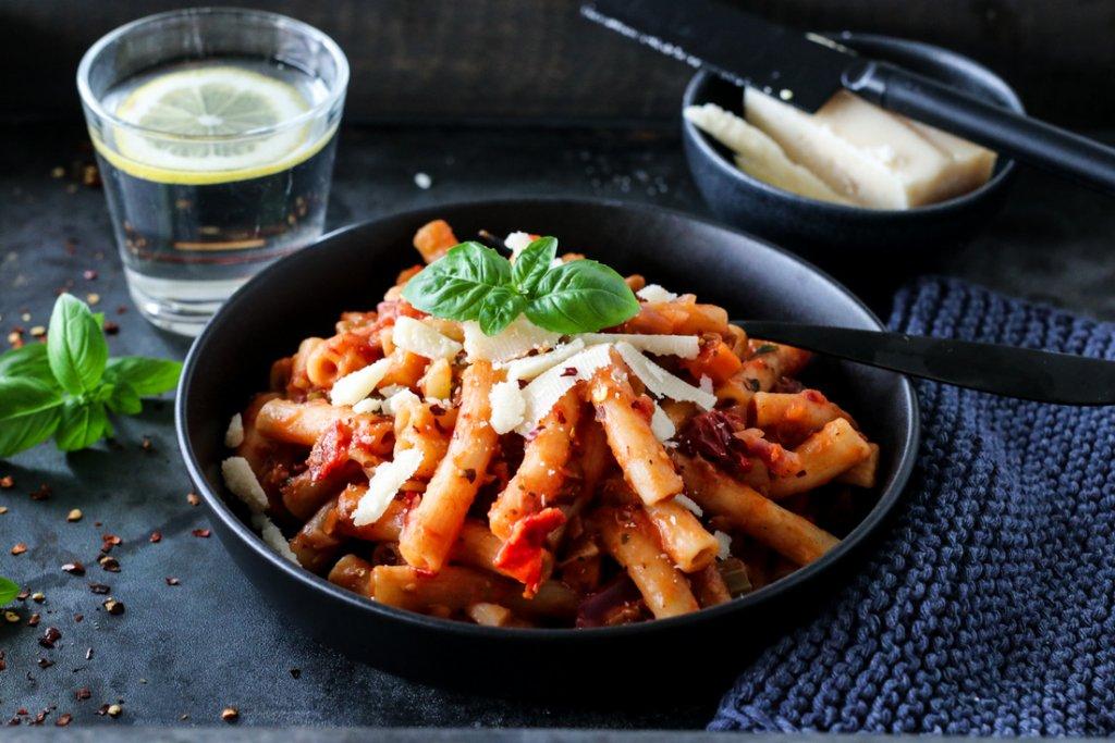 One pot-pasta vegetar