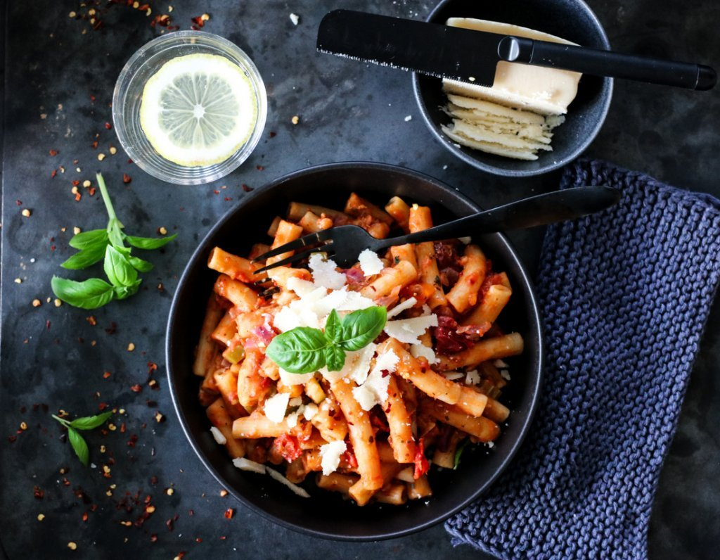 One pot-pasta vegetar