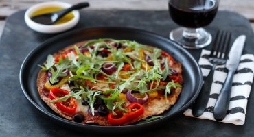 Image: VEGETARISK TORTILLAPIZZA