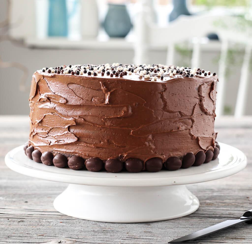 Sjokoladekake med espresso- og ostekrem
