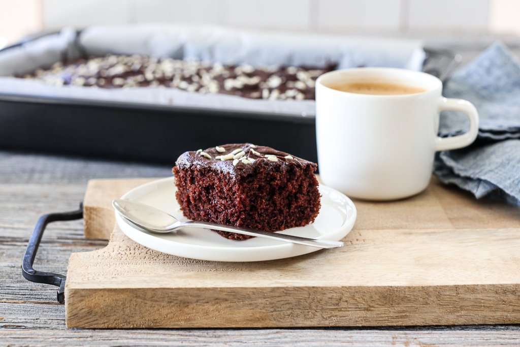 Saftig sjokoladekake med espressokrem