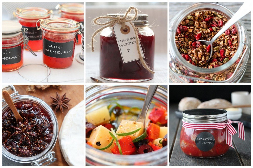 spiselige gaver på glass