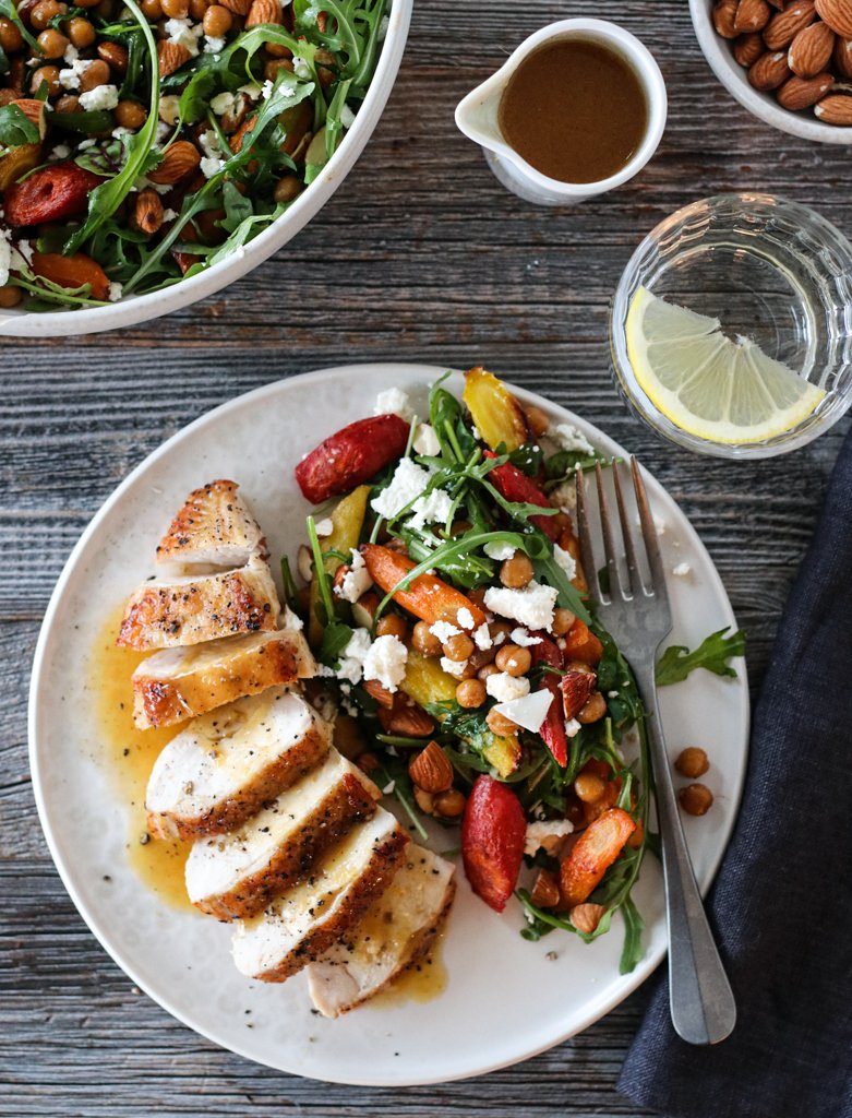Kylling med appelsinsaus og lun gulrotsalat 2
