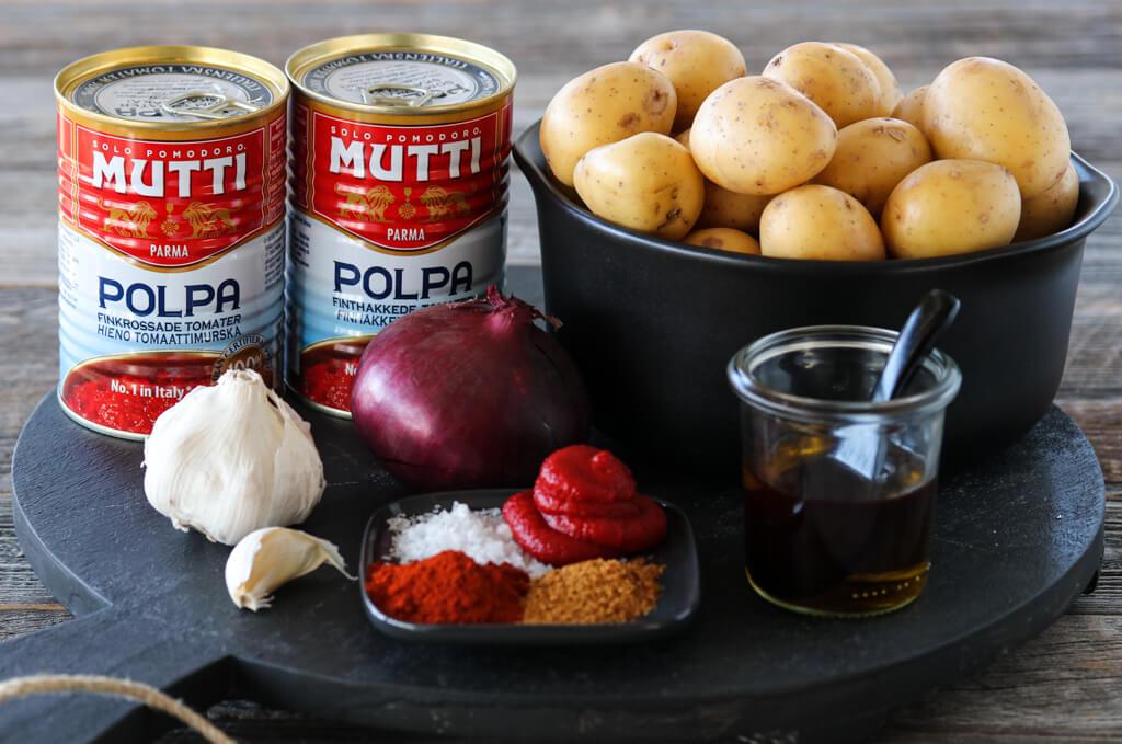 Spanske tapaspoteter - patatas bravas