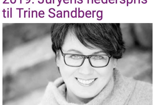 Image: JURYENS HEDERSPRIS TIL TRINE SANDBERG