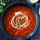 Image: SPICY LINSESUPPE MED CHORIZO OG PAPRIKA