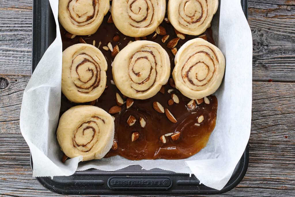 Kanelboller med karamell - sticky buns