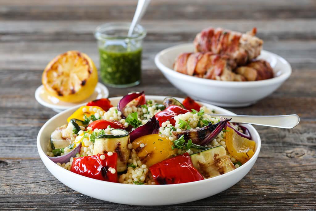 Couscous med grillede grønnsaker