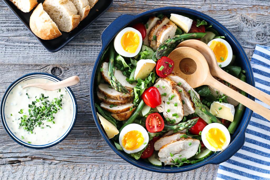 Kyllingsalat med ranchdressing