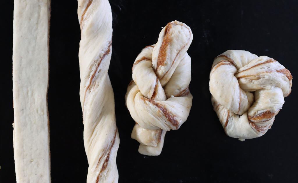 Kanelknuter med vaniljekrem