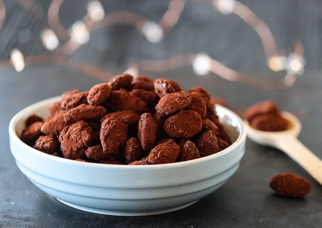 Brente mandler med sjokolade