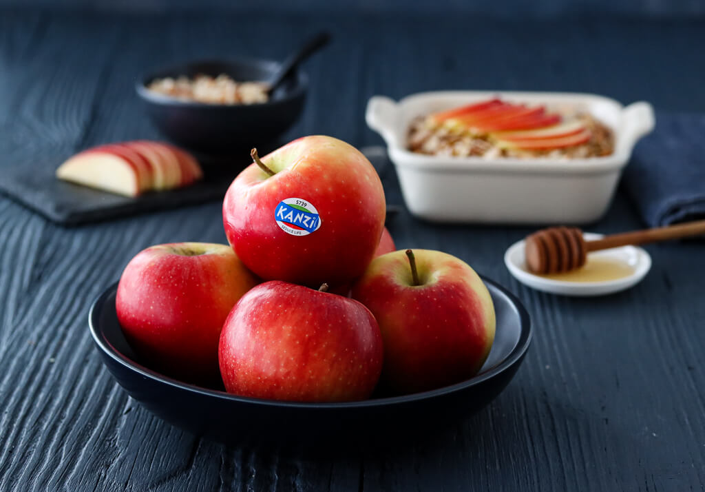 Bakt havregrøt med eple