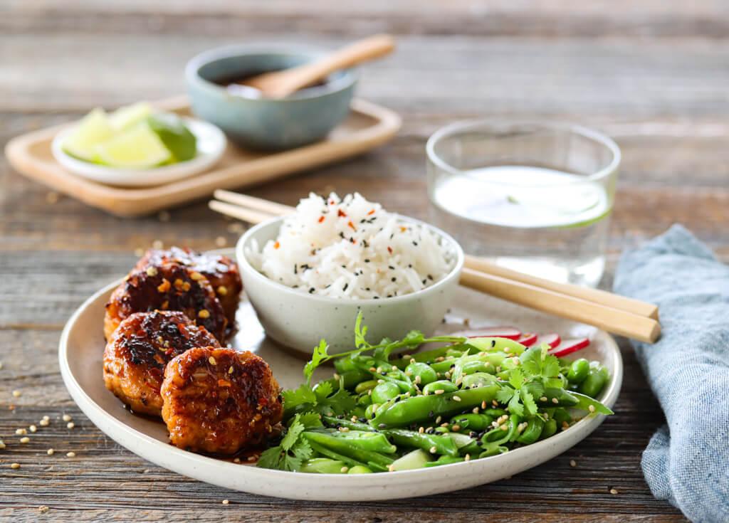 Asiatiske kyllingboller