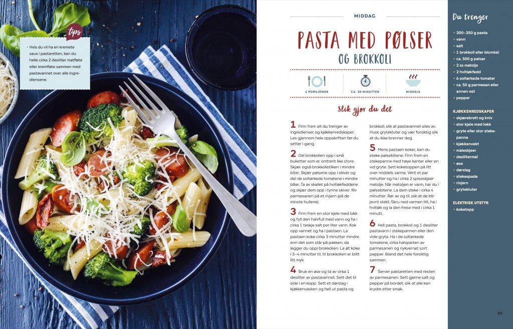 Trines kokebok for unge kokker - pasta
