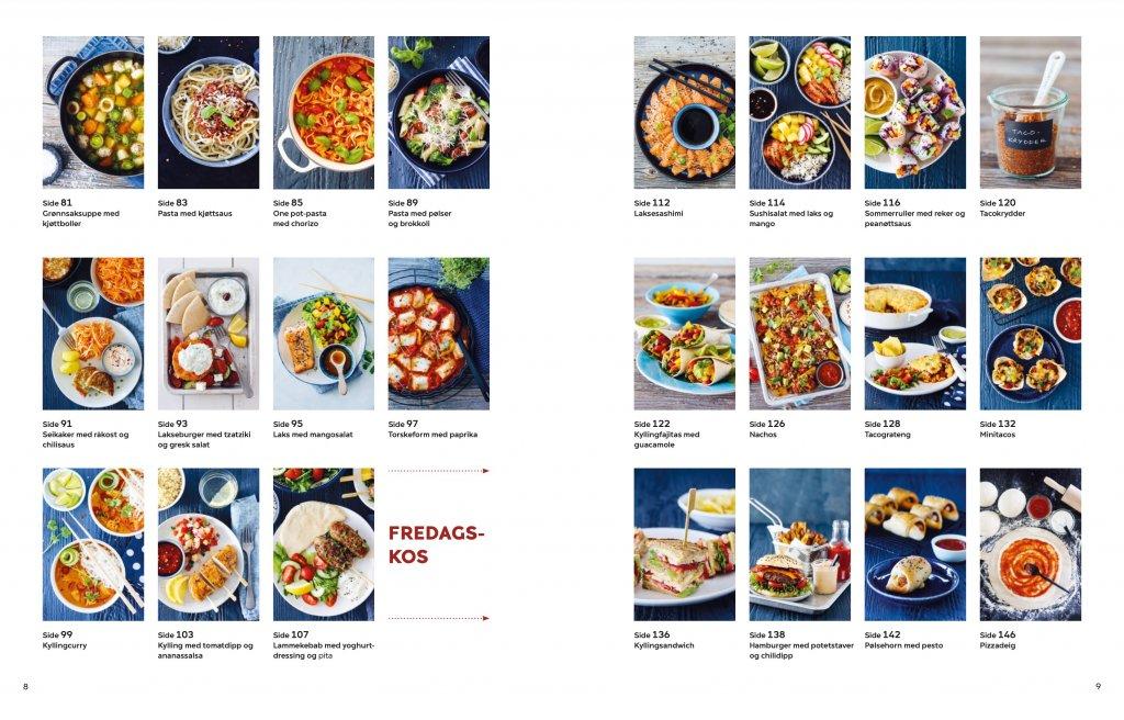 Trines kokebok for unge kokker - innhold
