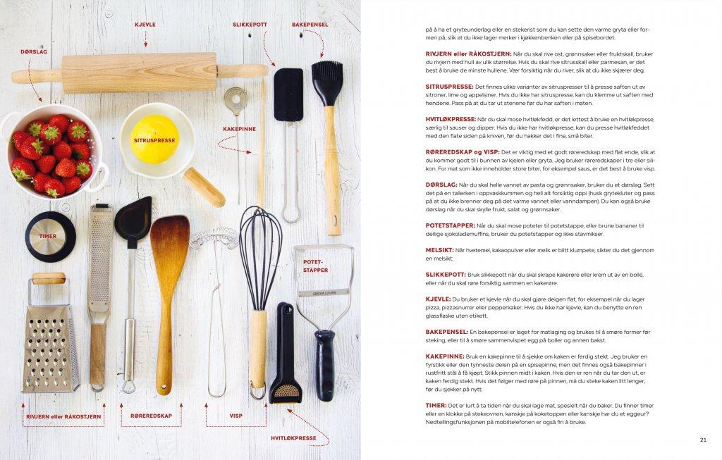 Trines kokebok for unge kokker - kjøkkenutstyr